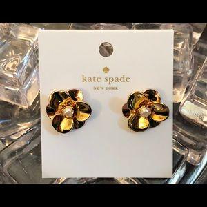 NWT! KATE SPADE Gold Pick A Posy Stud Earrings!!!
